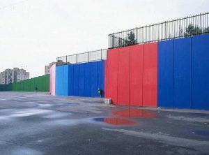 Escola Secundaria da Maia - Muros Contencao pintados
